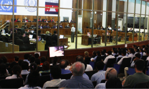 The public gallery was full when survivor Chum Mey testified against former Khmer Rouge prison chief Kaing Guek Eav alias Duch before the Extraordinary Chambers in the Courts of Cambodia on 30 June 2009. (Photo Credit: ECCC)