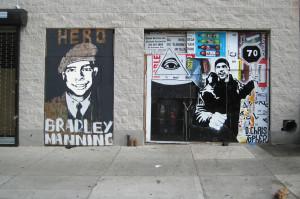 A Bradley Manning Mural (Credit: Posterboy, flickr)