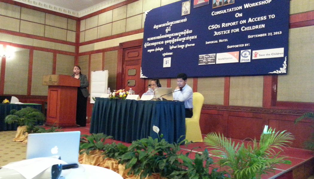 Alternative Report on Access to Justice for Children in Cambodia