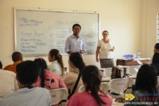 Destination Justice team facilitates workshops for students at Chea Sim University of Kamchaymear