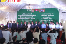 "Award Ceremony for ""Outstanding reporting on Corruption in Cambodia 2015"""