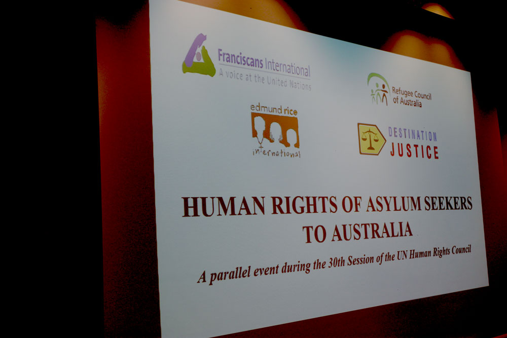 Human Rights of Asylum Seekers to Australia, a parallel event during the 30th session of the UN Human Rights Council