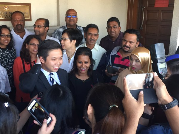 Lena Hendry and her lawyers, 10 March 2016