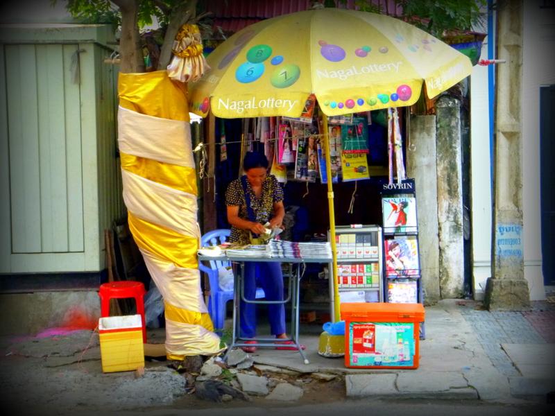 Newsstand in Phnom Penh (Photo credit: Céline Martin )