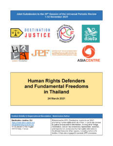 UPR Submission: Human Rights Defenders and Fundamental Freedoms in Thailand